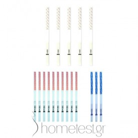 5 progesterone tests (PdG), 10 ovulation and 3 pregnancy HomeTest test strips