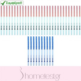 30 ovulation + 10 pregnancy HomeTest test strips