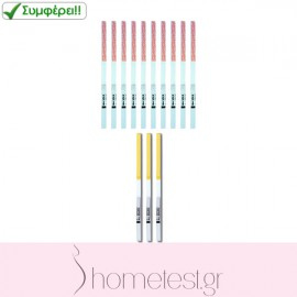 3 HomeTest FSH test strips + 10 HomeTest ovulation test strips
