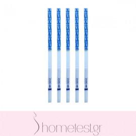 5 HomeTest pregnancy test strips