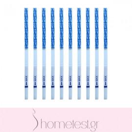 10 HomeTest pregnancy test strips