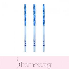 3 HomeTest pregnancy test strips