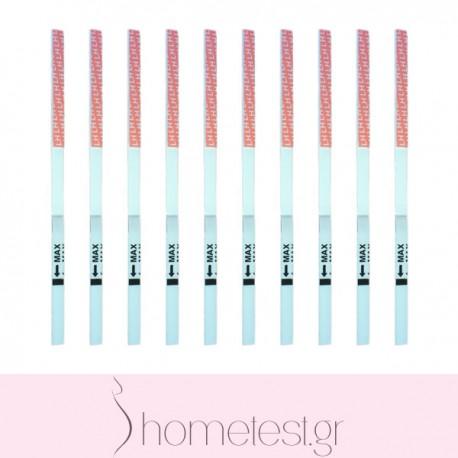 10 HomeTest ovulation test strips