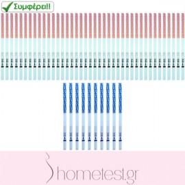 40 ovulation + 10 pregnancy HomeTest test strips