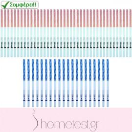 40 ovulation + 20 pregnancy HomeTest test strips