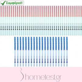 40 HomeTest ovulation test strips + 20 HomeTest pregnancy test strips