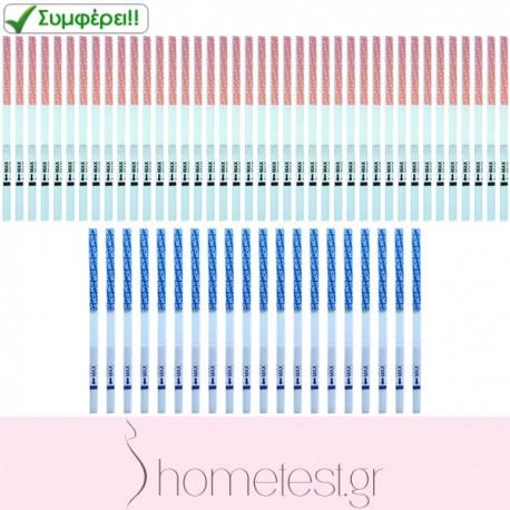 40 HomeTest ovulation test strips + 20 HomeTest pregnancy test strips