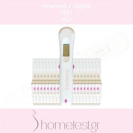 20 ψηφιακά τεστ ωορρηξίας HomeTest (διπλής ανίχνευσης)