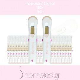 40 ψηφιακά τεστ ωορρηξίας HomeTest (διπλής ανίχνευσης)