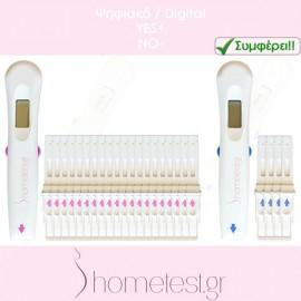 20 ψηφιακά τεστ ωορρηξίας + 4 ψηφιακά τεστ εγκυμοσύνης HomeTest