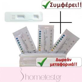 50 τεστ κολπικού pH + 5 τεστ διαρροής αμνιακού υγρού HomeTest