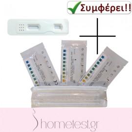 10 τεστ κολπικού pH + 2 τεστ διαρροής αμνιακού υγρού HomeTest